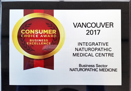 Integrative Naturopathic Medical Centre Consumer's Choice Award 2017